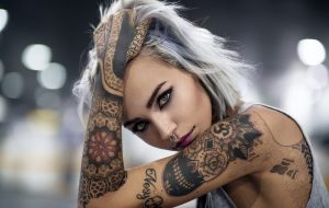 tattooed female models